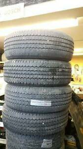 a set of four 265/70R17 all season continental tire