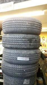a set of four 265/70R17 all season continental tire