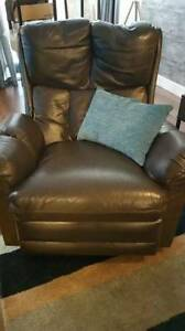 Brown Leather recliner chair