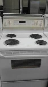 Kitchen Aid Aparment Size Simple White Coil Top Stove