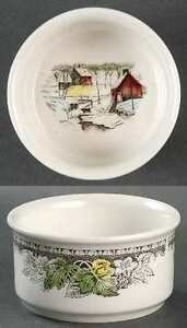 Johnson Brothers 'The Friendly Village' Cranberry Bowls 5""