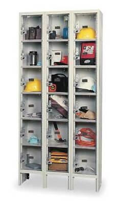 Hallowell Usvp3258-6a-pt Box Locker 36 In W 15 In D 78 In H 3 Wide 18