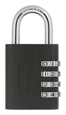 Abus 158Kc Combination Padlock,Side,Black/Silver