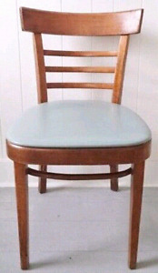 Vintage Bentwood Chair VINYL Antique