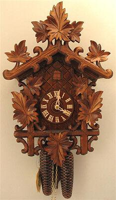 German Black Forest 8 Day Cuckoo Clock 8250 Leaves Ebay