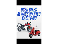 ALL MOTOR BIKES WANTED