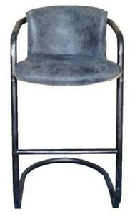 Full Grain Leather Barstool & Counter Stool in Whisky or Ebony