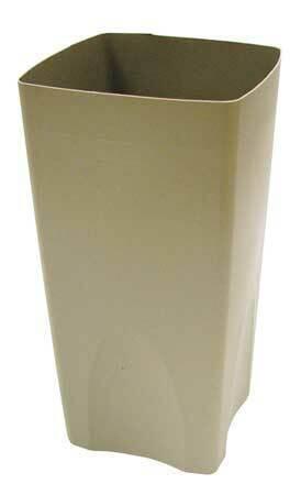 Rubbermaid Fg356300beig 19 Gal Plastic Square Rigid Liner, Beige