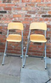 Pair of IKEA Folding Barstools