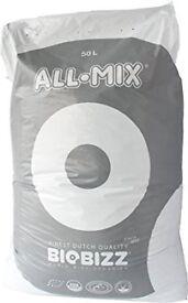 14 Bags of BioBizz 50L All-Mix Potting Soil