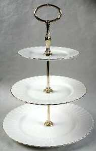 Royal Albert Val D'or 3 Tier Cake Stand Porcelain - BRAND NEW