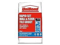 unibond rapid set wall & floor tile grout 3kg - £1.50x 60 bags (min purchase: 10) OR £60 for 60 bags