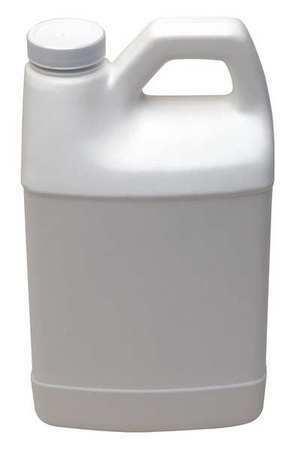 Zoro Select Hf64w-38 Bottle,F-Style,1/2 Gal.,Hdpe