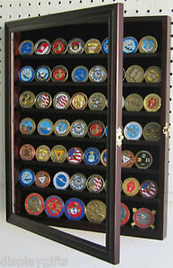 56-Military-Challenge-Coin-Display-Case-Rack-Wall-Shadow-Box-Cabinet-COIN56-MAH