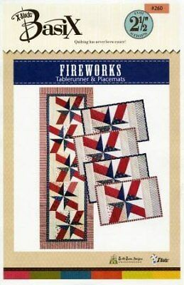 Fireworks Pattern - Pattern~Fireworks Table runner and Placemats Uses the Basix Template