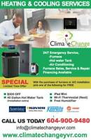 Climate Change Heating and Cooling *99$ Service Call*