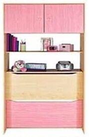 Overhead Pink bed storage
