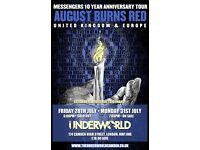 AUGUST BURNS RED - DAY 2 - 10 YEAR ANNIVERSARY AT THE UNDERWORLD