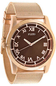 FLUD MOMENT WATCH IN ROSE GOLD MESH - BRAND NEW