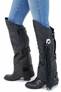 NEW--- Leather Half Chaps