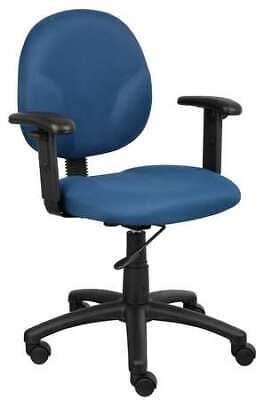 Zoro Select 6gnl8 Desk Chair Fabric Blue Height 33-12 To 38