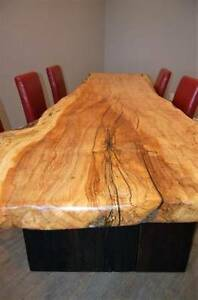 Live Edge and Reclaimed Wood Coffee and Dining Tables