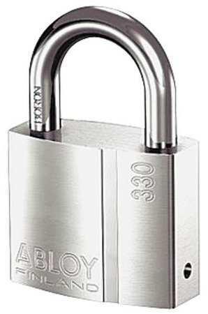 Abloy Pl330/25B-Kd Padlock, Keyed Different, Standard Shackle, Rectangular