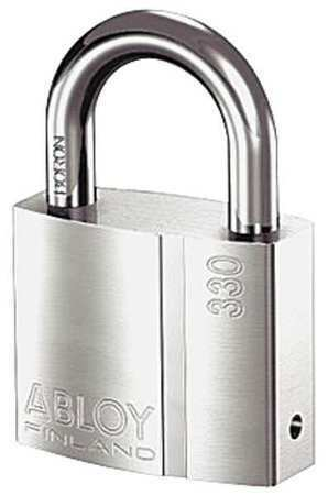 Abloy Pli330/25B-Ka Padlock, Keyed Alike, Standard Shackle, Rectangular Brass