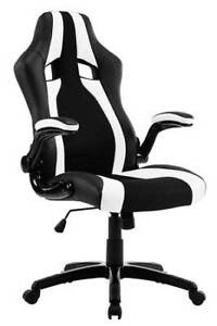 High Back Ergonomic Racing Car Style PU Leather and Mesh Fabric
