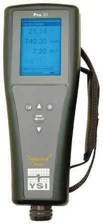 Ysi Pro20 Dissolved Oxygen Meter,0 To 50 Mg/L