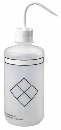 Lab Safety Supply 24J917 Translucent, Wash Bottle 32 Oz., 4 Pack