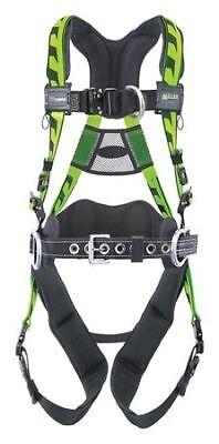 Honeywell Miller Aaf-qcbdpsmg Full Body Harness Vest Style Sm Polyester