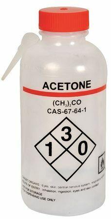 Lab Safety Supply 24J877 Translucent, Wash Bottle 16 Oz., 4 Pack