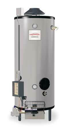 Rheem-Ruud Gn91-200 Natural Gas Commercial Gas Water Heater, 91 Gal., 120V Ac