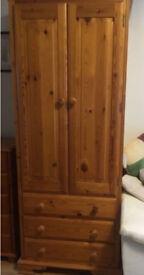 Solid Pine Wardrobe - excellent condition