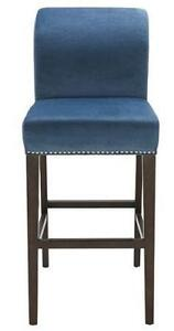 Fabric BarStool and Counter Stool in Inc Blue