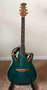ovation electric acoustic  6 string  guitar like new /great gift