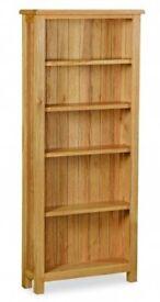 Salisbury Lite Large Bookcase Solid Oak - Mint Condition
