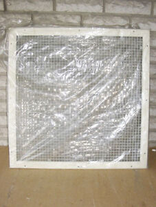 """WHITE SQUARE CEILING or WALL GRATE (25.75"""" x 25.75"""") ~ NEW!"""