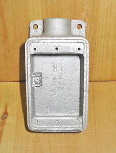 """CROUSE-HINDS FS1 TYPE  1/2"""" CAST IRON 1 GANG DEVICE BOX ~ NEW!"""
