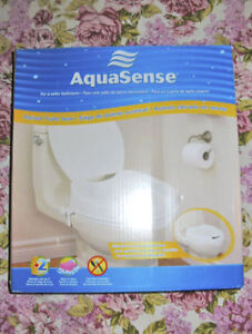 """AQUASENSE 2"""" INCH RAISED TOILET SEAT with OPEN/CLOSE LID ~ NEW!"""