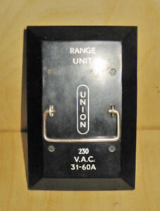 UNION 30/60 AMP, 240 VAC 'RANGE UNIT' FUSE HOLDER ~ VERY RARE!