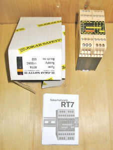 JOKAB SAFETY RT7A SAFETY CONTROL RELAY (24VDC/115VAC) ~ NEW!