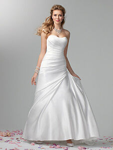 Alfred Angelo Wedding Dress for Sale- Size 10- Never Altered