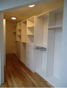 Custom-made closet systems (Maple Ridge/Meadows, TriCities, Miss