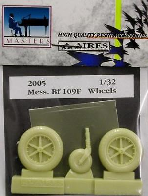 Aires 1/32 Messerschmitt Bf109F Wheels for Hasegawa and Trumpeter kit 2005