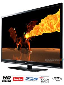 Télévision LG 50'' 600hz état de neuve avec télécommande jamais