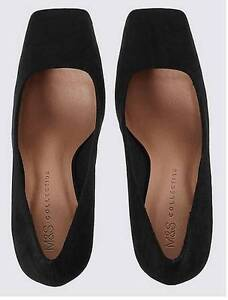 Brand New! Marks and Spencer' Stiletto Square Toe Court Shoes -