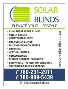 PREMIUM QUALITY WINDOW TREATMENT- BLINDS/SHADES/COVERINGS