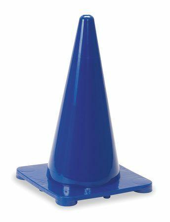 Zoro Select 1Ybw4 Traffic Cone,18 In.Blue
